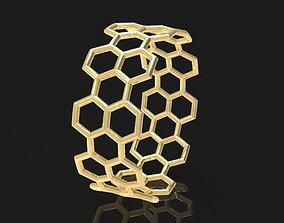 Gold Ring Honeycomb 3D print model