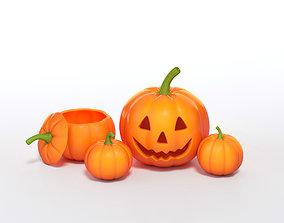 Jack o lantern or halloween pumpkin 3D Models minimal 1
