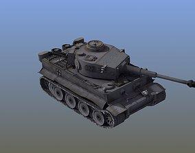3D asset game-ready Panzer VI Tiger Tank