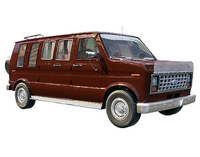 3D Ford Econoline 1984
