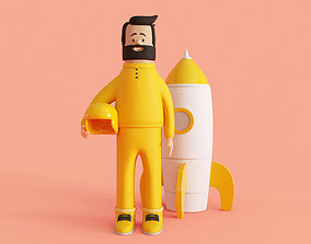 3D model Cartoon Cosmonaut