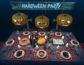Halloween party set 3D