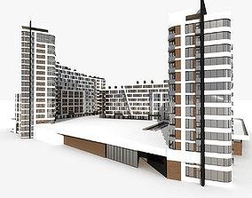 Residential Modern Building 5 3D