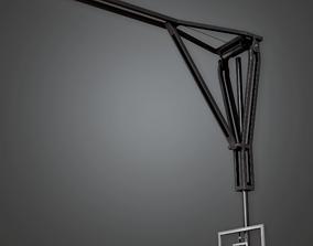 3D model HSG - Basketball Backboard Gym - PBR Game Ready