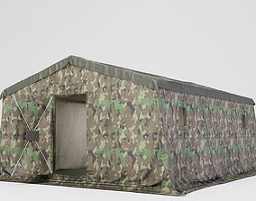 3D model Army tent 3 color options