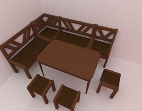 3D asset Kitchen area