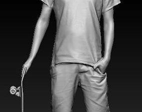 3D printable model skateboarder