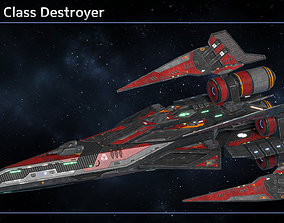 Spaceship Destroyer Collection III 3D model