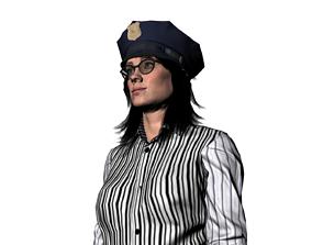 3D model Sophia Police