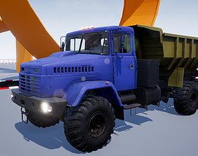 Dump Truck 3D asset game-ready