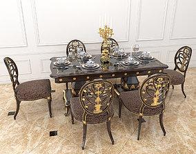 European Style Dinning Table 3 3D model