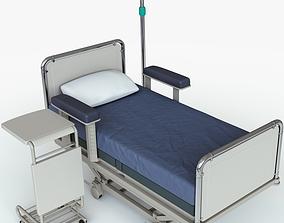 Hospital Bed Set 3D