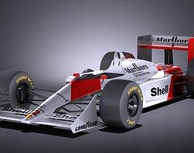 Mclaren Honda MP4 4 Ayrton Senna VRAY 3D