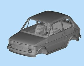 Fiat 126 with interior 3D model files printables