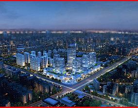 Modern City Animated 077 3D model