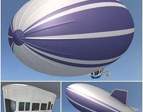 3D model Blimp flying
