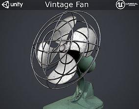 3D model VR / AR ready Vintage Fan