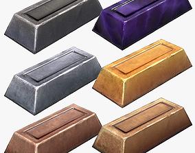 Stylized Ingots Pack 3D asset