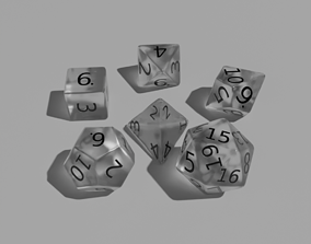 3D model White Clear Dice