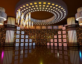 3D model virtual set for entertainment show