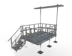 Equipment Platform with Ice Bridge Handrail 3D model