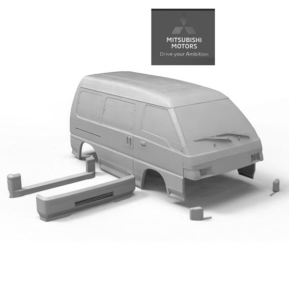MITSUBISHI L300-DELICA 4X4 1-10 3D PRINT MODEL 3D print model
