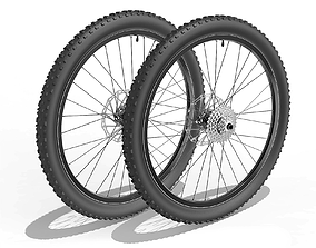 3D Bicycle Front and Back Wheel 27-5 inch