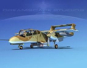 3D model Rockwell OV-10D Bronco US Marine Corps