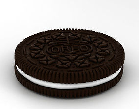 galleta Oreo Cookie 3D model