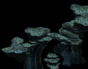 Terrain-Mountain-Stone-Stairs 37 3D model