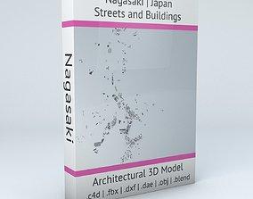 Nagasaki Streets and Buildings 3D model