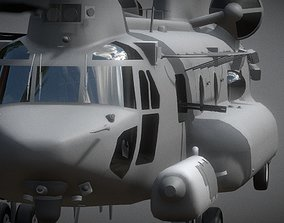 VR / AR ready Boeing CH-47 Chinook 3D Model