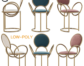 Chair With Delicate Loop Armrests By Studio 3D model