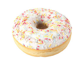 glazed Photorealistic Sprinkled Donut 3D Scan 1