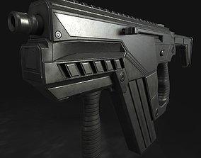 Submachine Gun M24 R Retexurted 3D asset VR / AR ready