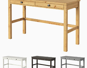 HEMNES Desk with 2 drawers 3D