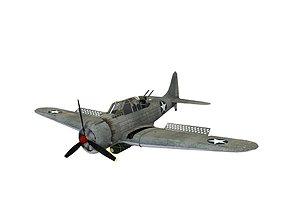 3D model low-poly Douglas sbd