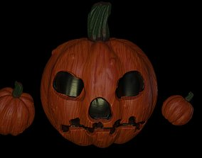 death 3D halloween pumpkin