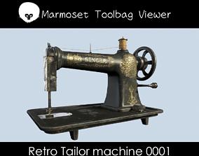 Retro Tailor machine 0001 3D model VR / AR ready