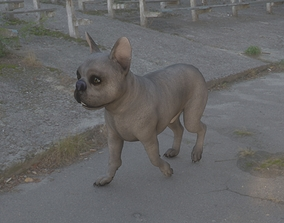 3D model ANML-017 Dog Walking In Place