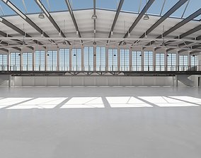 Industrial Hangar Hall Interior 5 3D model