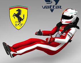 Sebastian Vettel 2015 3D asset
