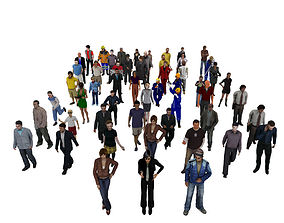 3D asset People Pack 55 People