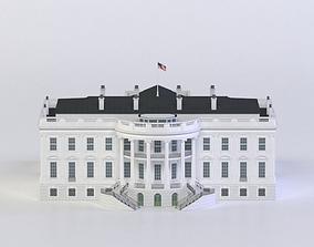 VR / AR ready THE WHITE HOUSE 3D MODEL