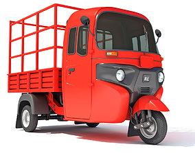 Pickup Mini Truck Rickshaw 3D model