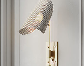 Tulle Wall Lamp in Brass by Blueprint Lighting 3D model