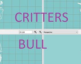 critter bull WIP 3D asset