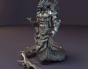 3D model Dragon God Statue