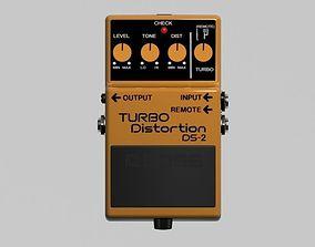 BOSS Turbo Distortion Pedal 3D model