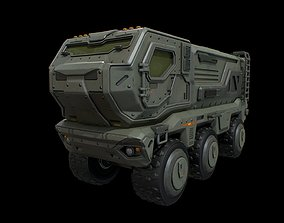 Typhoon futuristic military armored truck 3D asset